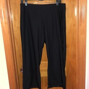 Cropped Black Athletic Pants